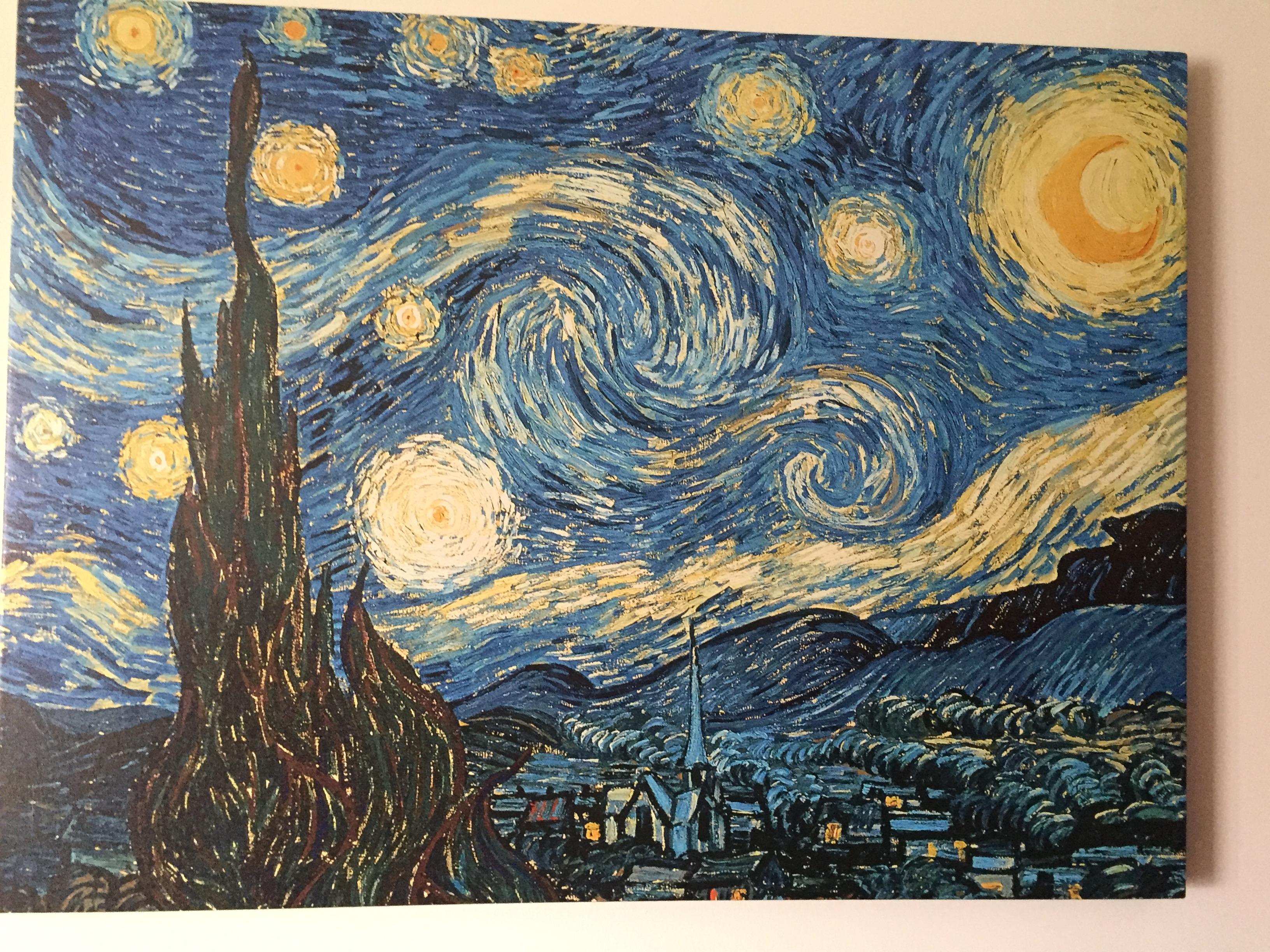 罗岛梵高星空画作装饰画出售增添房屋情趣
